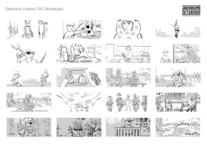 Danonino French TVC storyboard
