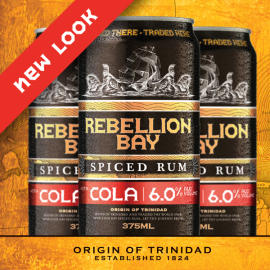 Scraper-board illustration Rebellion Bay Spiced Rum