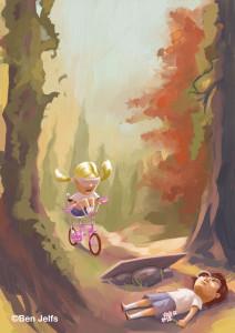 We Played in the sun – bike jump.