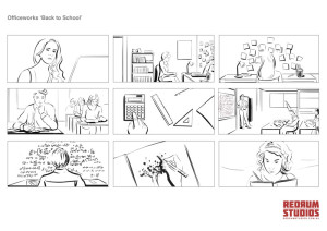 Officeworks 'Back to School' storyboard