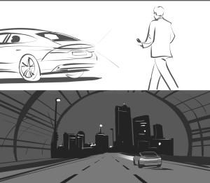 Audi UK – directors storyboard