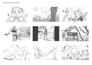 Bonds Queendom TVC storyboard