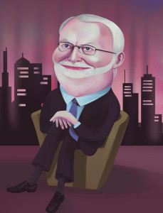 David Stratton caricature