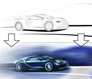 Bugatti storyboard frame