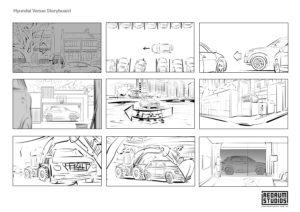 Hyundai storyboard